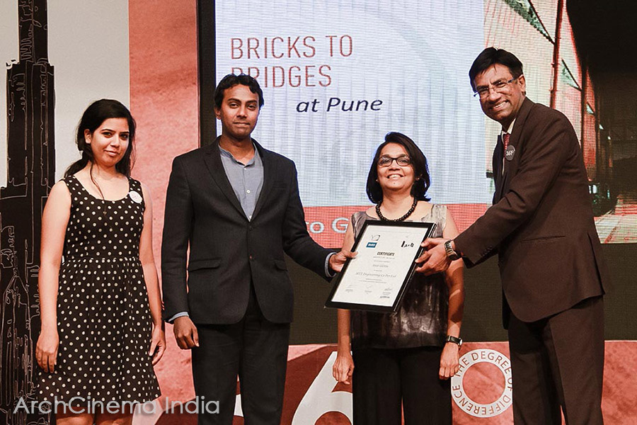 Design Equate, Pune receiving the Young Designers architecture citation at the 361 Degree Design Conference, Mumbai.
